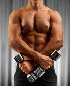 A muscular male torso — Stock Photo