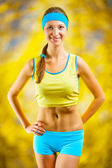 Portrait of a sports girl — Stock Photo