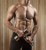 Torso of muscular male — Stock Photo