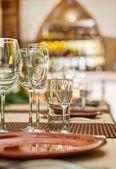 Wineglasses on table — Stock Photo