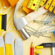 Stock Photo: Carpentry tools set