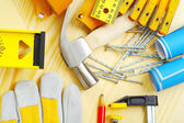 Carpentry tools set — Stock Photo