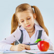A little girl learning — Stock Photo