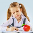 Stock Photo: A little girl learning