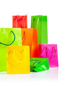 Big composition of colored paper bags — Stock Photo