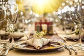 Serveren van restaurant tabel close-up — Stockfoto