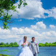 Newlywed pair — Stockfoto