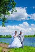 Newlywed pair — Stock Photo