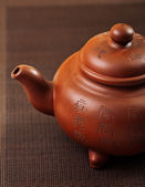 Brown teapot closeup — Stock Photo
