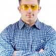 Stock Photo: Men in safety glasses