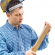 Carpenter isolated - Stock Photo
