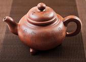Teapot on table — Stock Photo