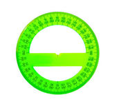 A green protractor — Stock Photo