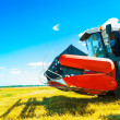 A combine on field — Stock Photo