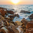 View on sea at sunset - Foto Stock
