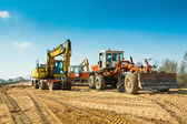 Old roadworking mashines — Stock Photo