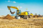 Row of construction mashines — Stock Photo