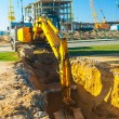 Excavator in work - Stock Photo