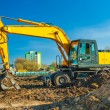 Yellow excavator - Photo