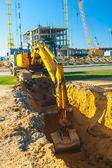 Excavator in work — Stock Photo