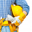 Stock Photo: Contractor very close up