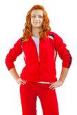 运动型红发女性 — 图库照片