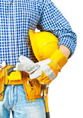 Contractor very close up — Stock Photo