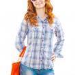 A young girl with handbag — Stock Photo #26023003