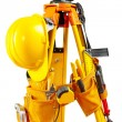 Set of tools on theodolite - Stock Photo