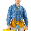 Worker with tools — Stock Photo