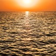 Sunset on sea — Foto Stock