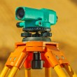 Foto Stock: Theodolite on on blurry background