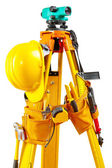 Set of tools on theodolite — Stock Photo