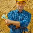 Portrait of contractor — Stock Photo
