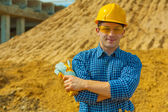 Portrait of a construction worker — Stock Photo