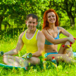 A fitness couple — Stock Photo