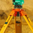 Close up view on theodolite — Stock Photo