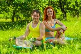 Bir fitness çift — Stok fotoğraf