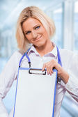 A friendly female doctor — Stock Photo