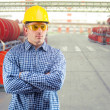 Stock Photo: Contractor at factory