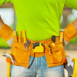 Tools in belt of worker — Stock Photo