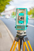 Electronical theodolite — Stock Photo