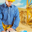 Contractor in work — Stock Photo