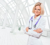 Doctora rubia — Foto de Stock