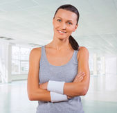 Portrait of beautyful sportswoman — Stock Photo