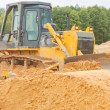 Bulldozer in work — Stock Photo