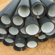 Stock Photo: Ribbed pipes