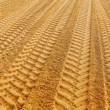 View on traks on sand — Foto Stock
