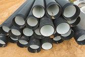 Ribbed pipes — Stock Photo