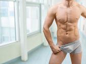 Torso of muscular male — Stock Photo